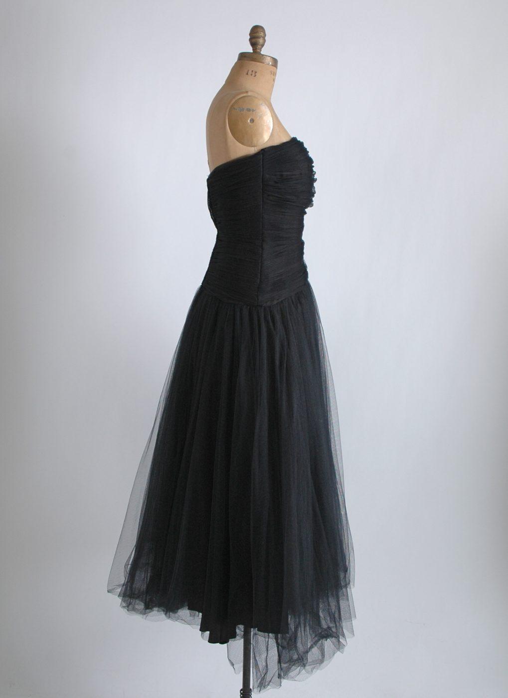 1950s Helena Barbieri ruched dress