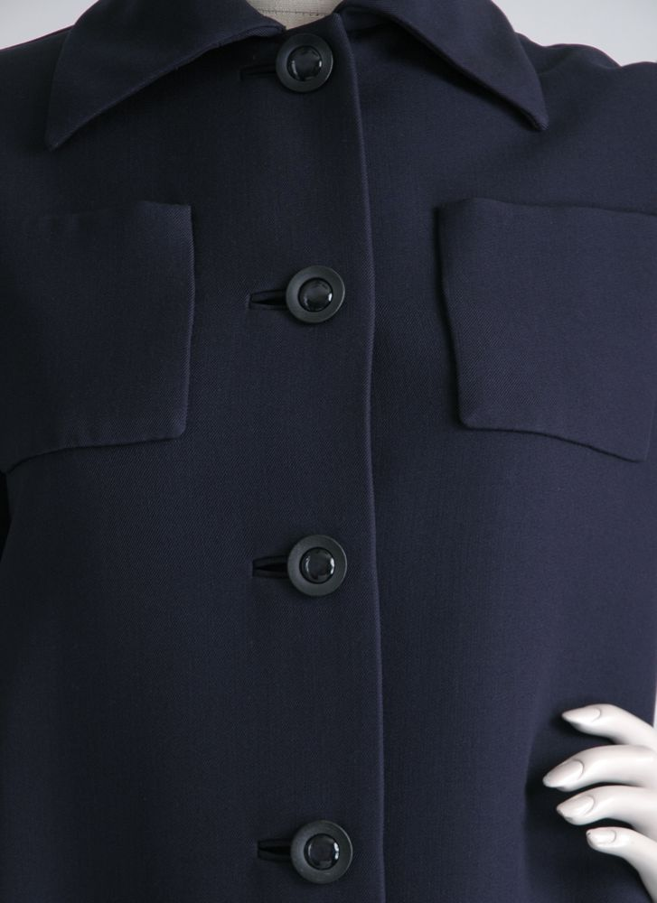 1970s NORELL dark blue gabardine coat