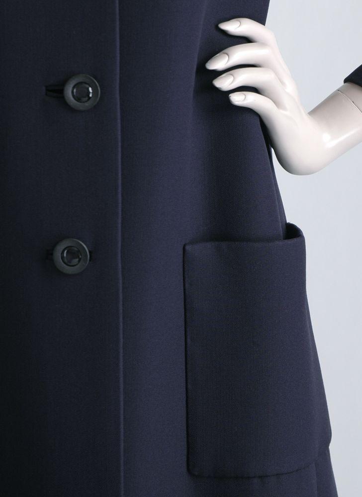1970s NORELL dark blue gabardine coat
