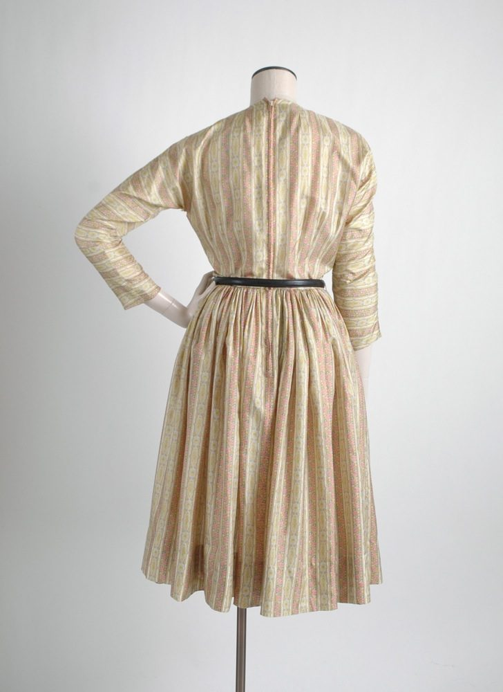 1950s Anne Fogarty printed silk dress