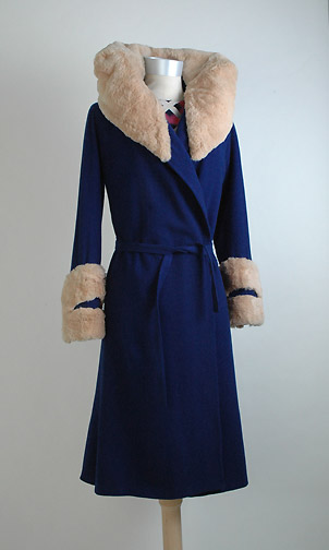 1920s fur collar coat