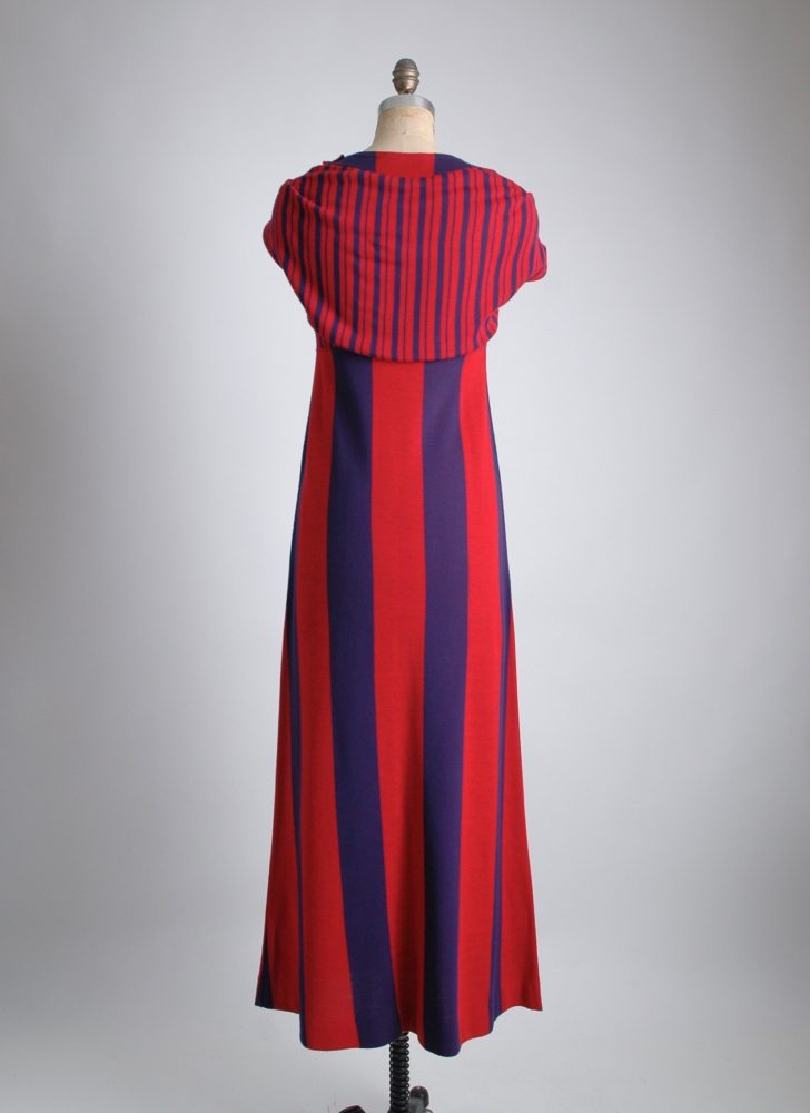 1960s Rudi Gernreich striped maxi dress