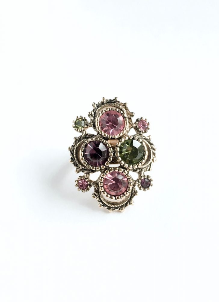 vintage Coventry rhinestone ring