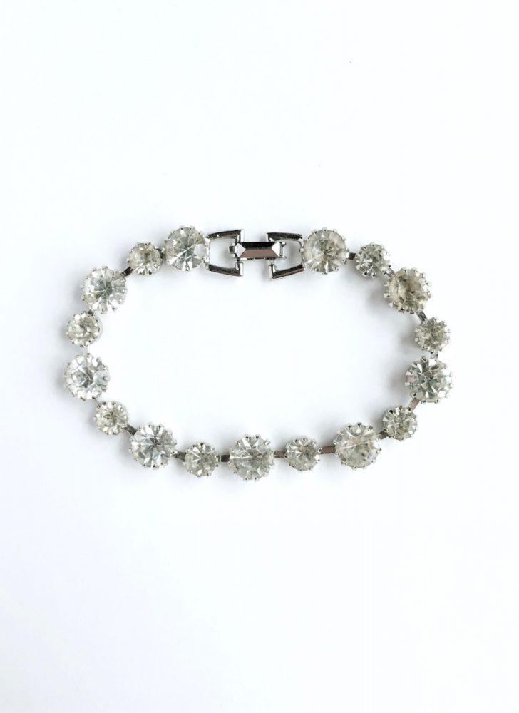 1950s 60s Weiss rhinestone tennis bracelet