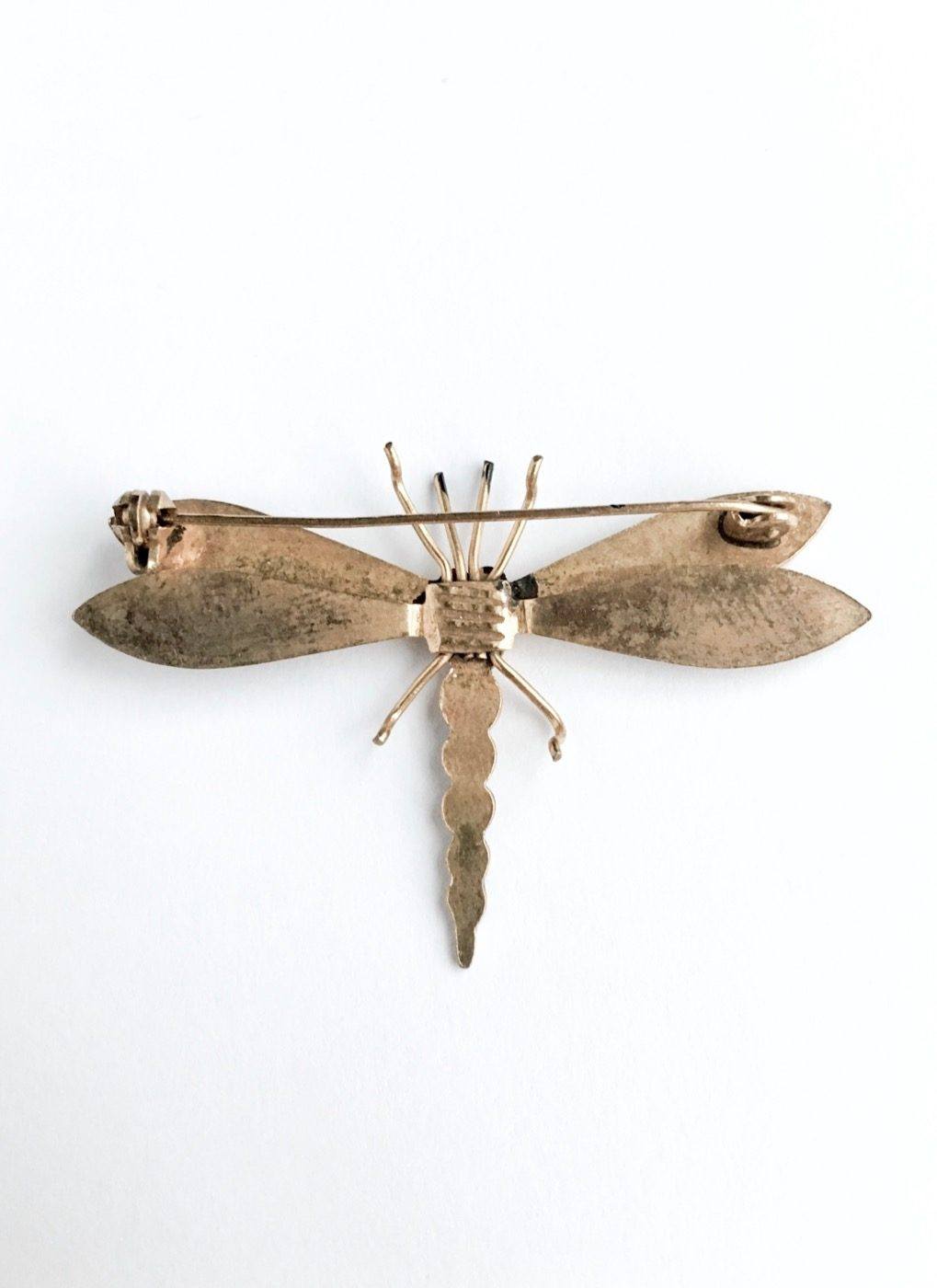 vintage enamel dragonfly pin