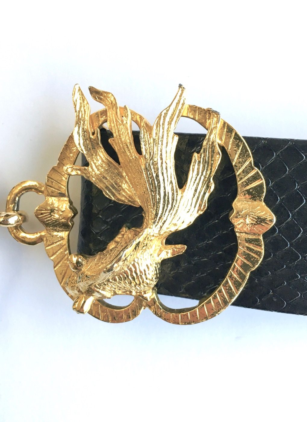1970s Mimi di N koi fish buckle belt