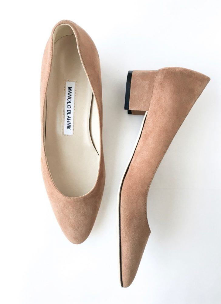 Manolo Blahnik Listony brown suede shoe
