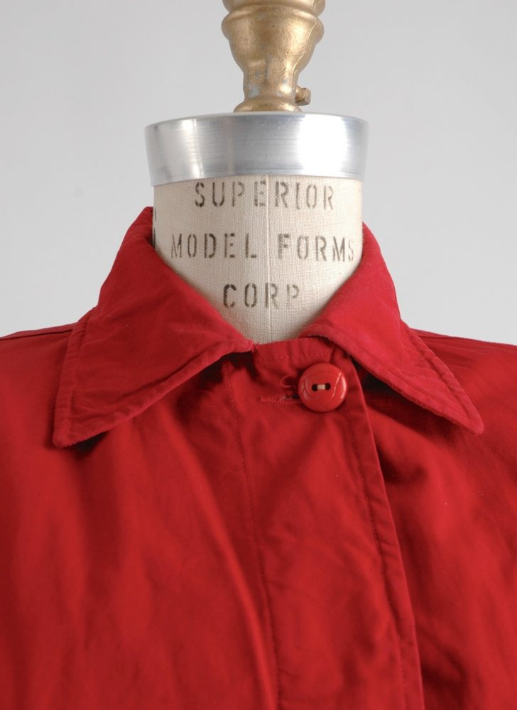 1940s red Cetchican Zero King canvas ski jacket