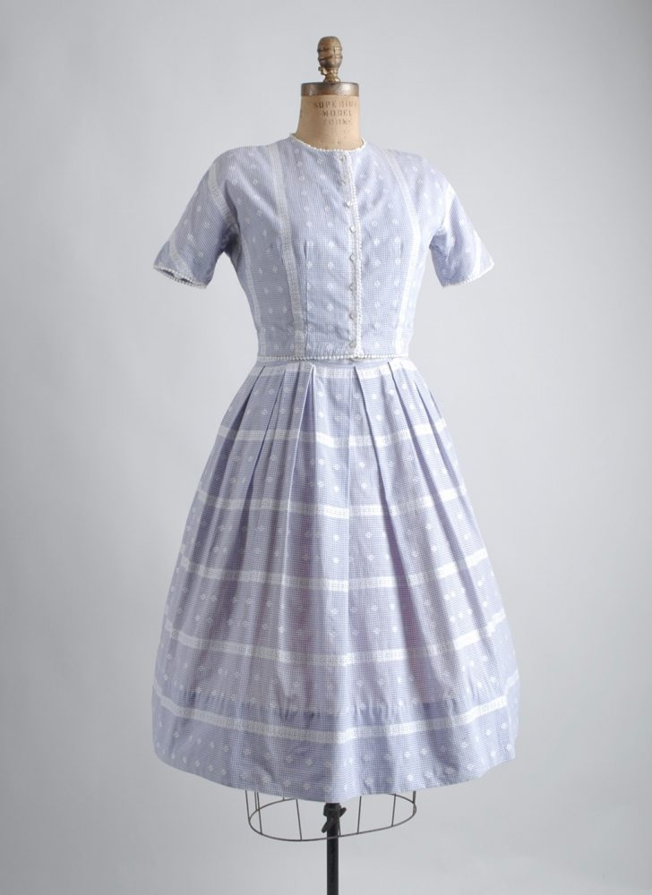 1950s 60s L'aiglon purple gingham dress and bolero
