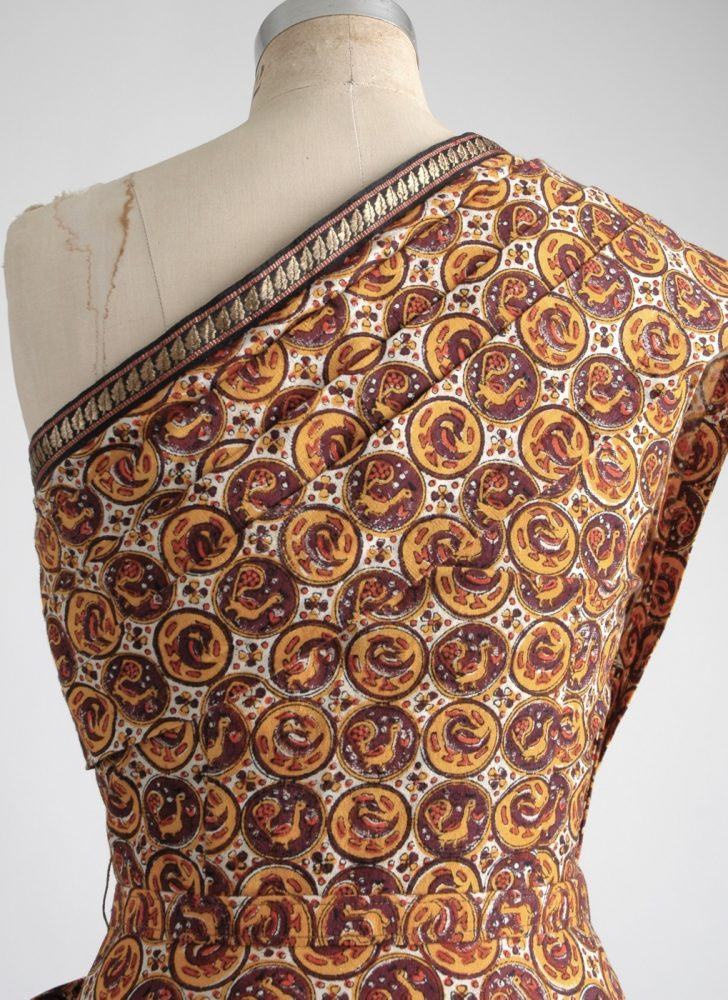 1940s Pompadour brown cotton sari dress (like Tina Leser)