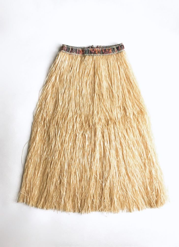 1950s vintage grass hula novelty skirt