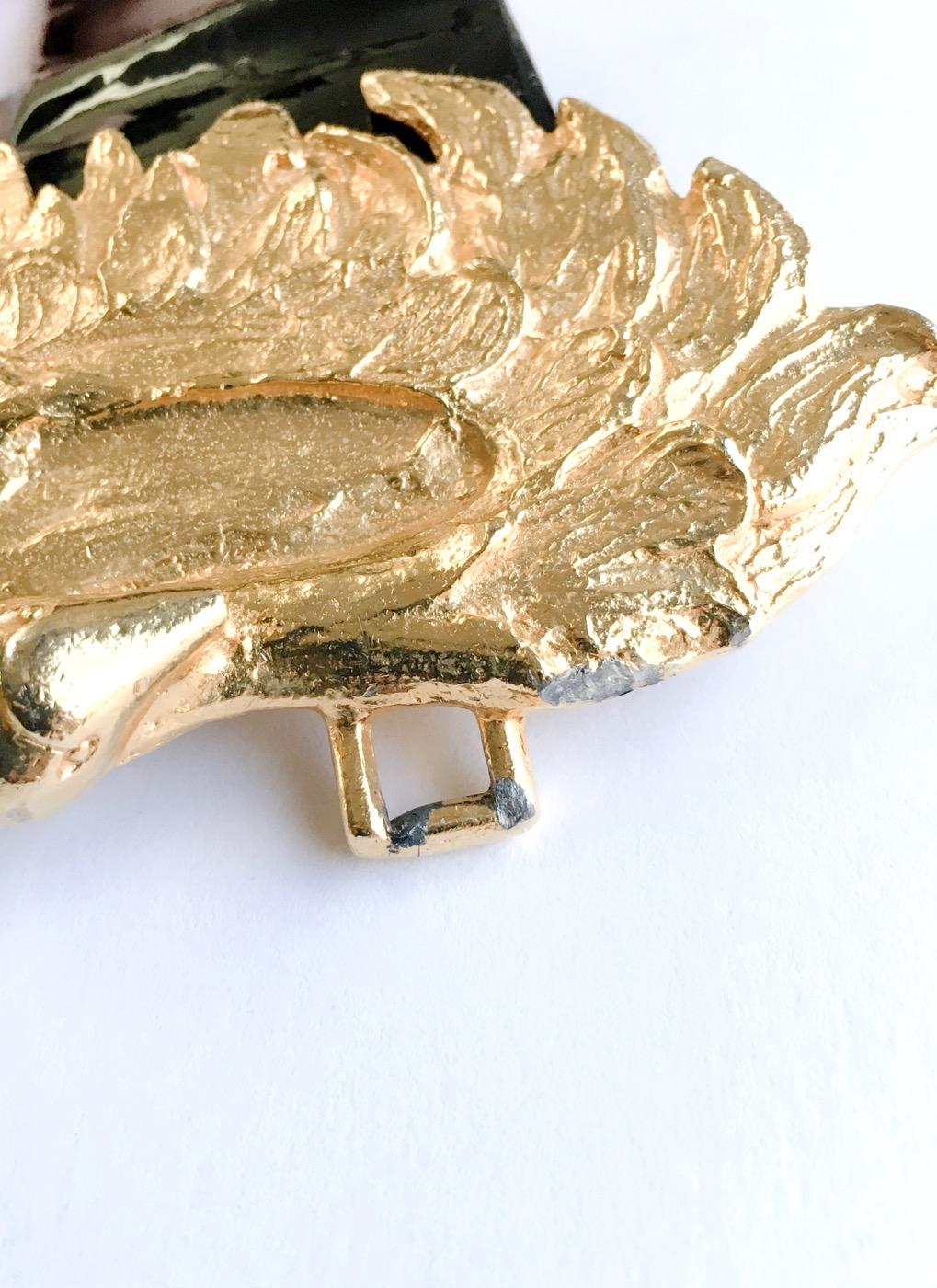 1970s Mimi Di Niscemi swans buckle belt