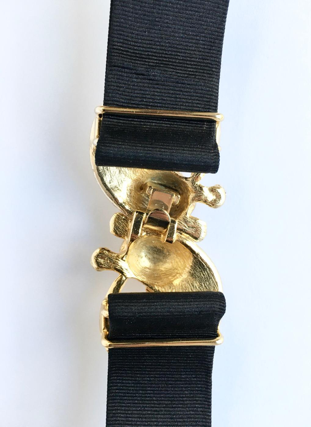 1970s Mimi Di Niscemi leopard buckle belt