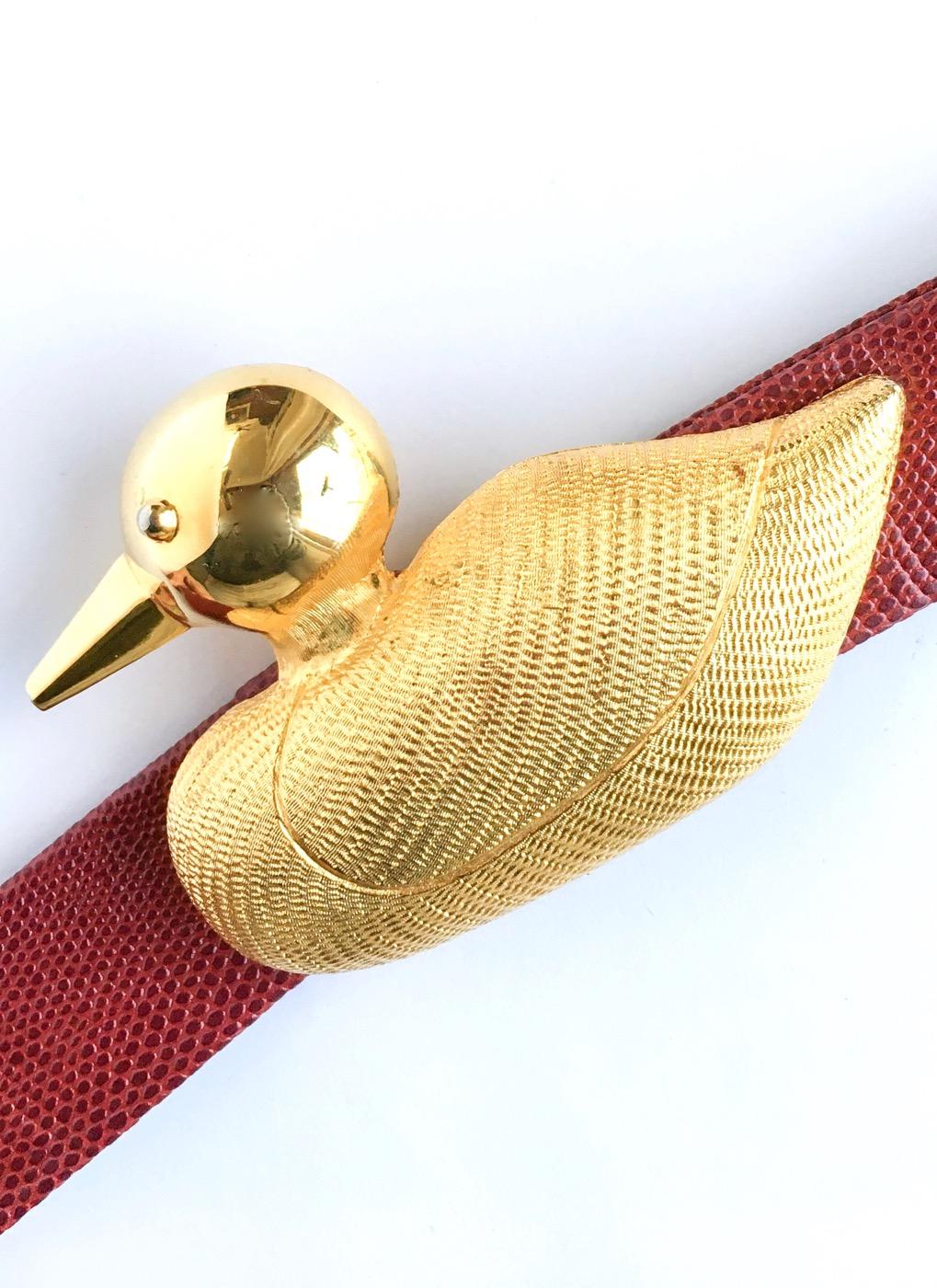 1970s 80s Dotty Smith duck buckle belt