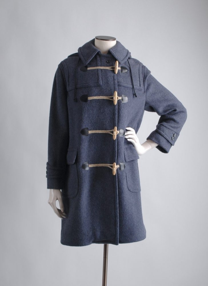 70s Loden Frey Austrian slate blue toggle coat