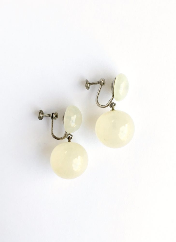 vintage glass ball dangle earrings