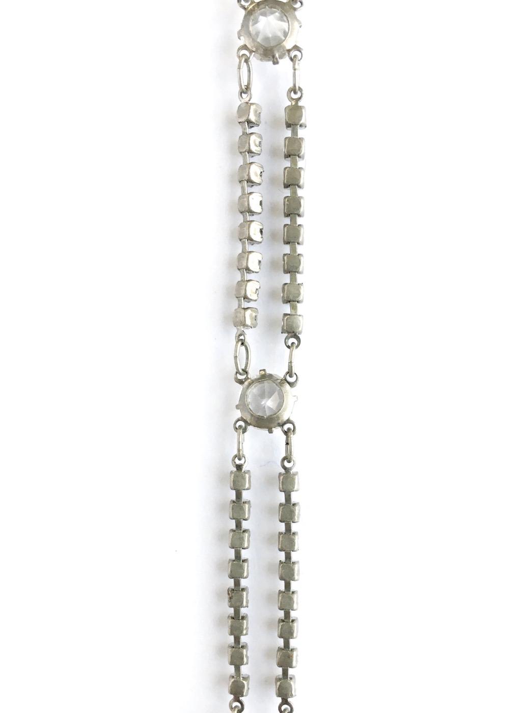 1920s Czech glass + rhinestone bracelet