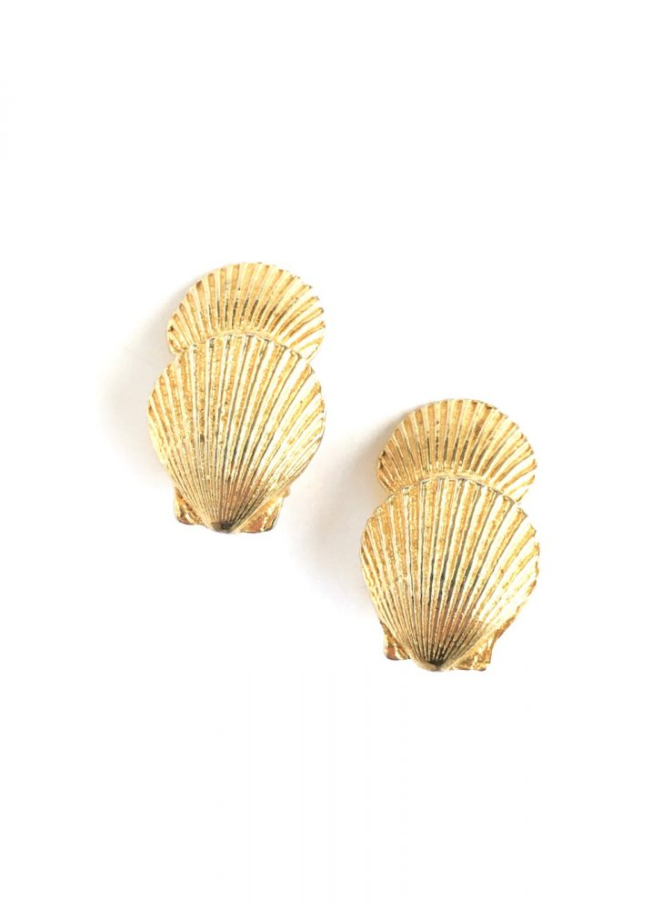 vintage Mimi di N shell earrings