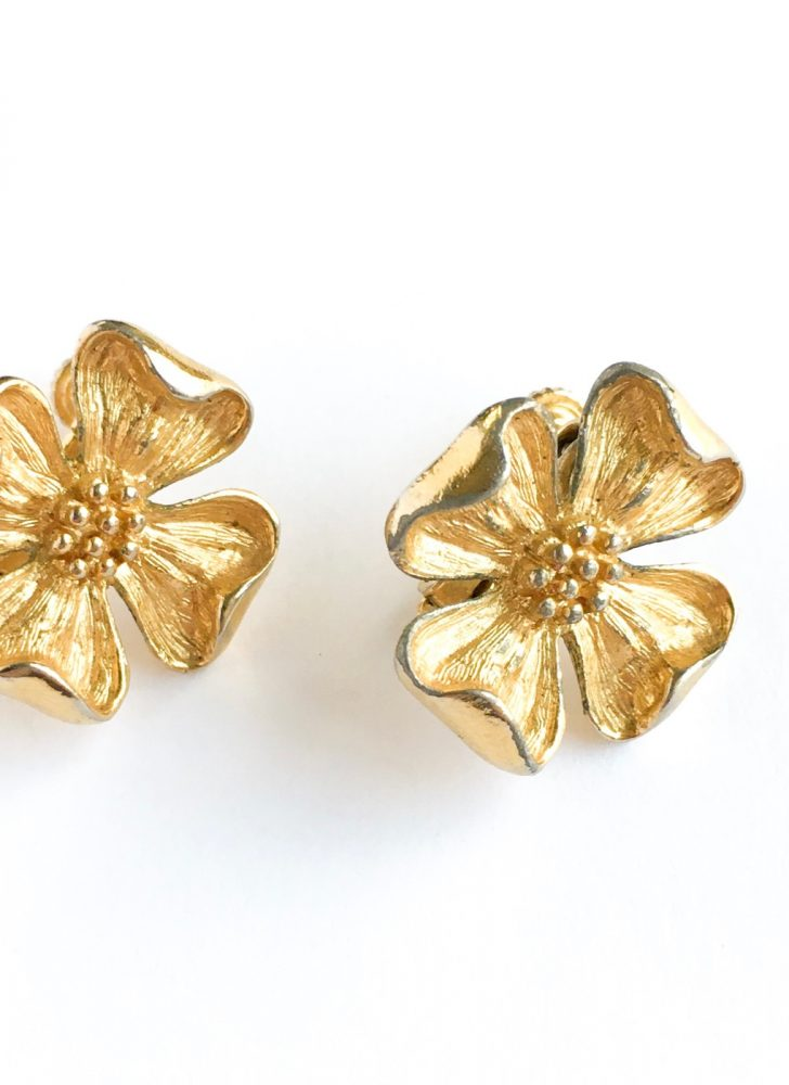 vintage Napier flower earrings