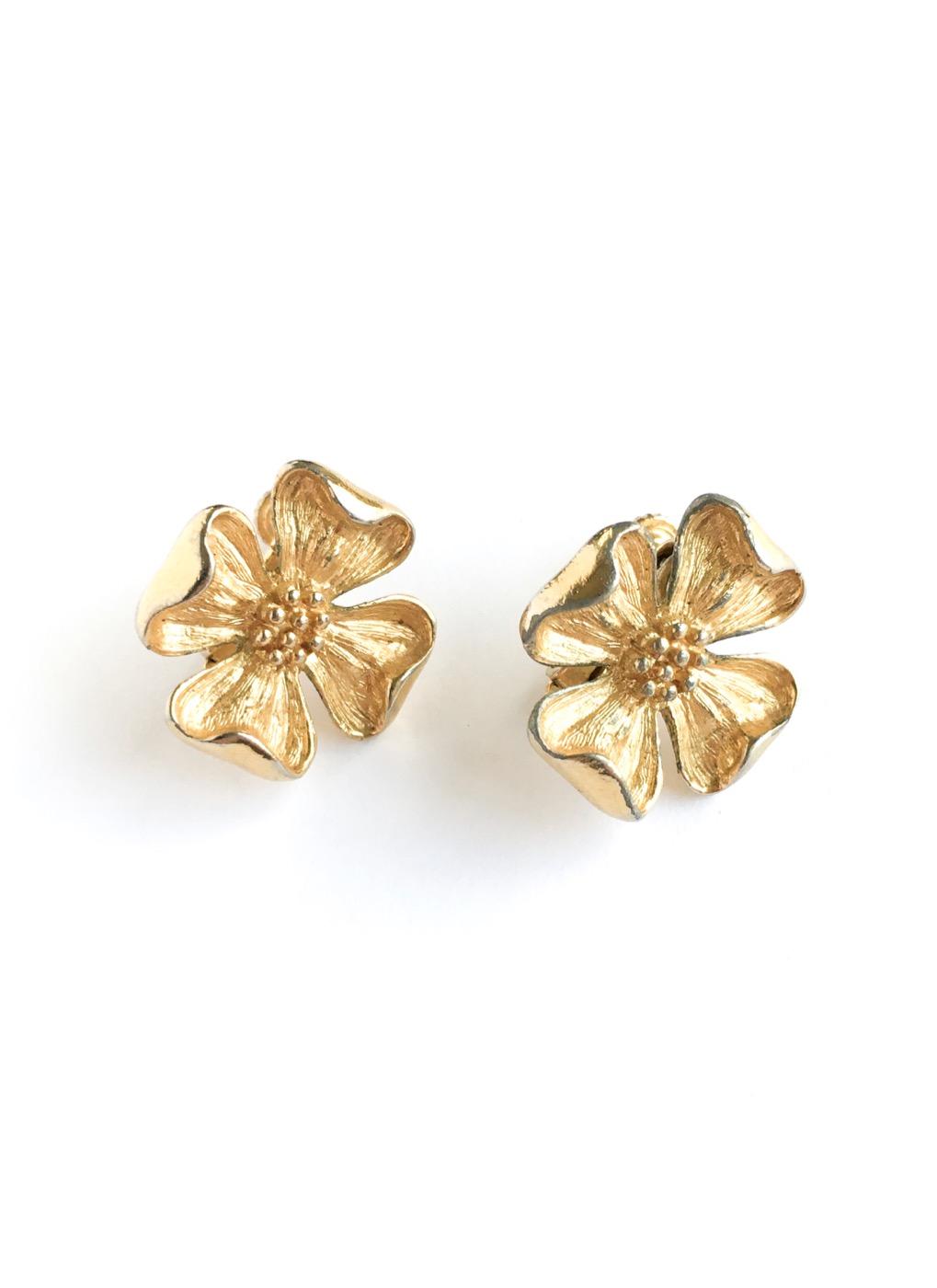 vintage Napier flower earrings