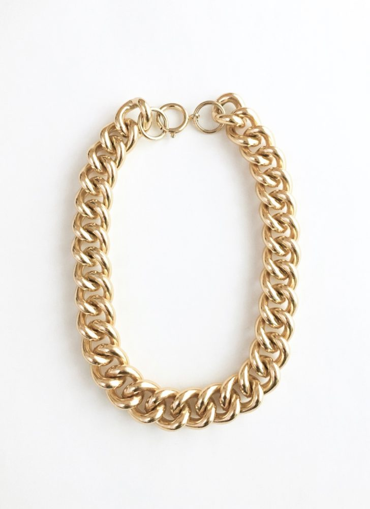1980s chunky gold chain necklace