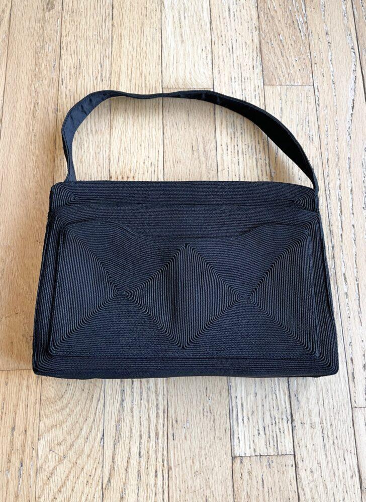 1940s black corde A. Blatt handbag