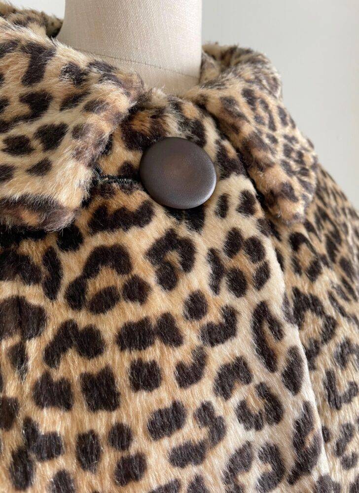 1950s 60s faux fur leopard coat Kilimanjaro Sidney Blumenthal