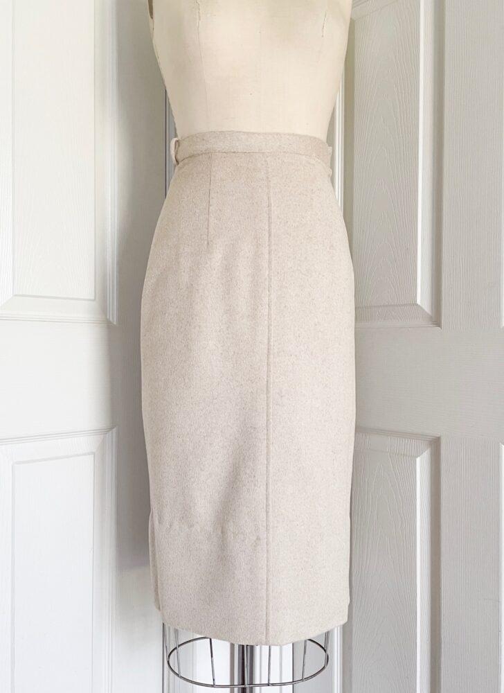 1950s Lilli Ann off-white beige mohair skirt