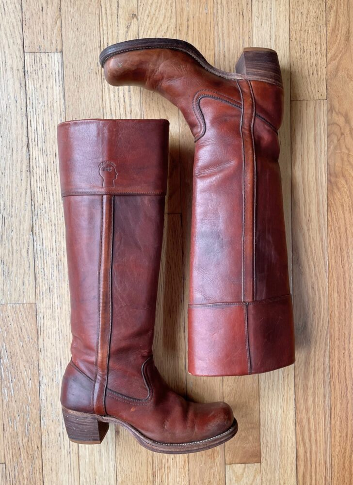 1970s Frye Georgetown Leather pull-on boots
