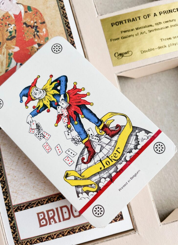 vintage nib bridge playing cards Portrait of a Prince Caspari
