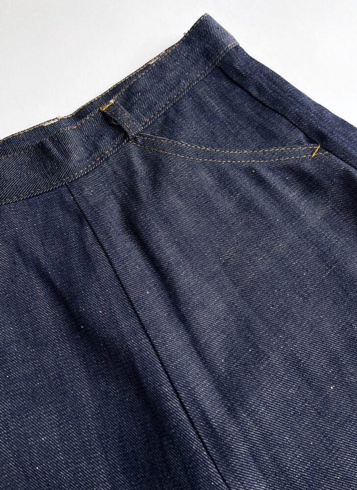 1940s 50s never worn blue jeans snap waist