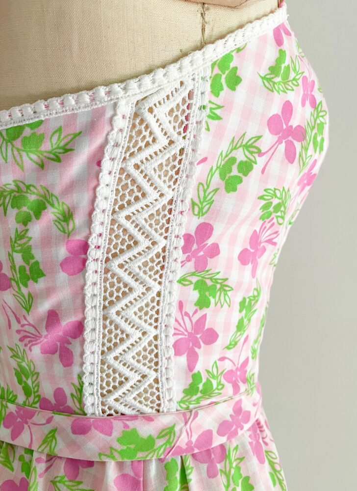 1970s The Lilly pink + green butterfly dress Lilly Pulitzer