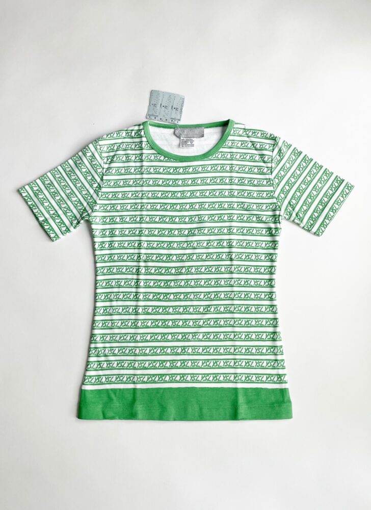 1980s green + white YSL Yves Saint Laurent t-shirt NWT