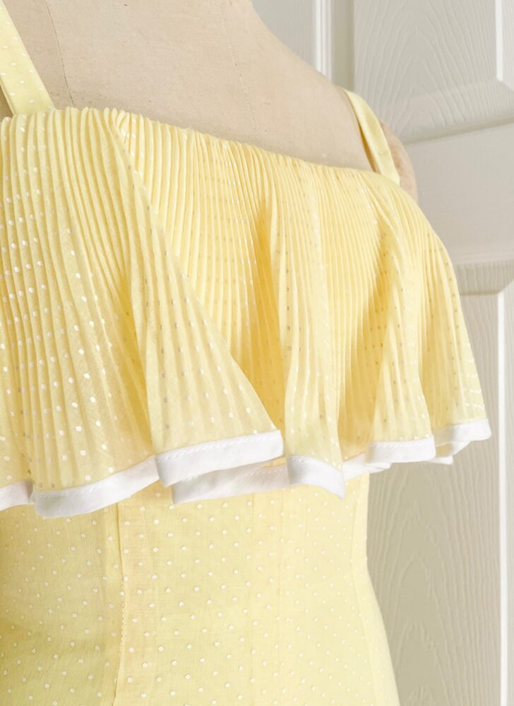 1960s 70s yellow ruffle maxi dress + wrap Miss Elliette